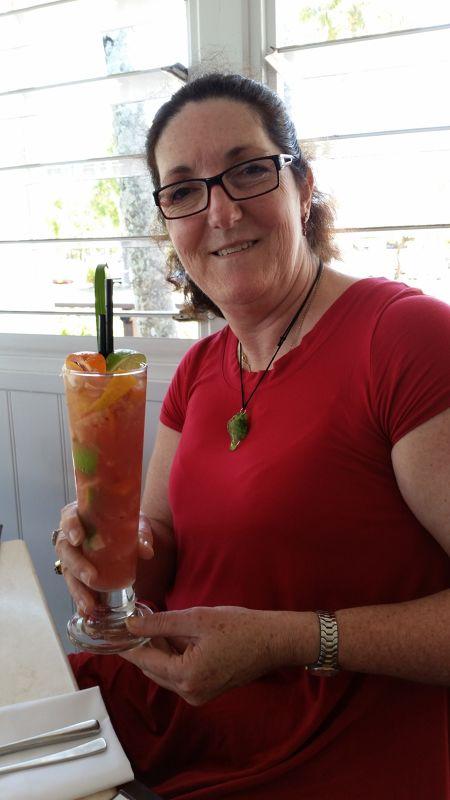 Al2401 enjoys yummy cocktail at Salsa Bar & Grill - Cairns