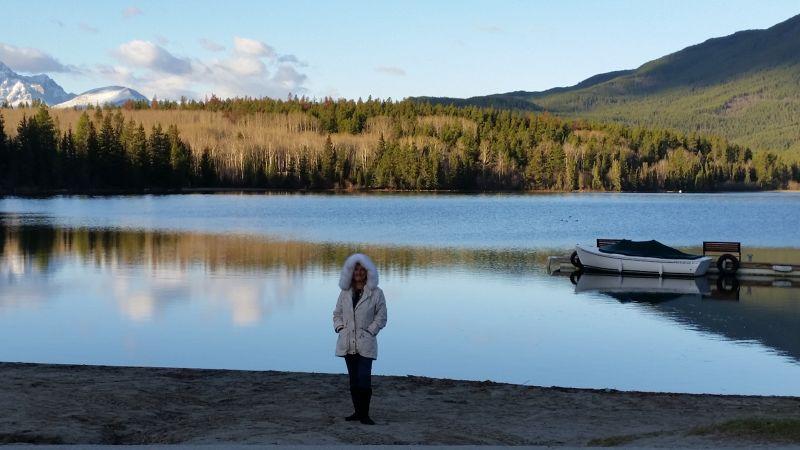 aussirose at Pyramid Lake Resort Jasper Canada