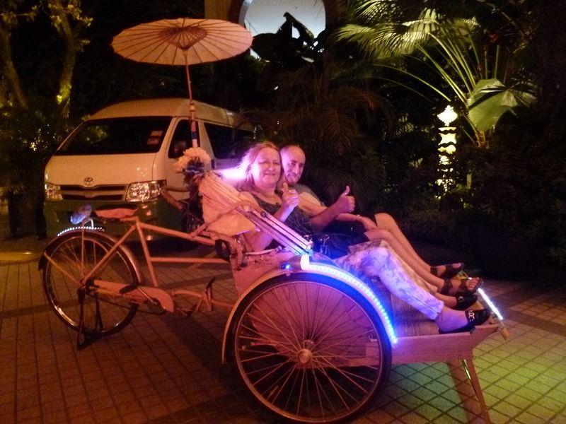 aussirose's first time in a Rickshaw, Penang