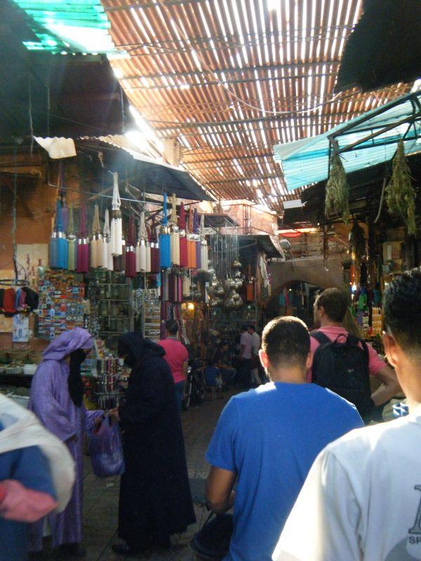 aussirose walks the Souk in Marrakech Medina - Marrakesh