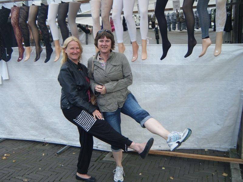 aussirose & bijo69 show sexy legs in Amsterdam - Amsterdam