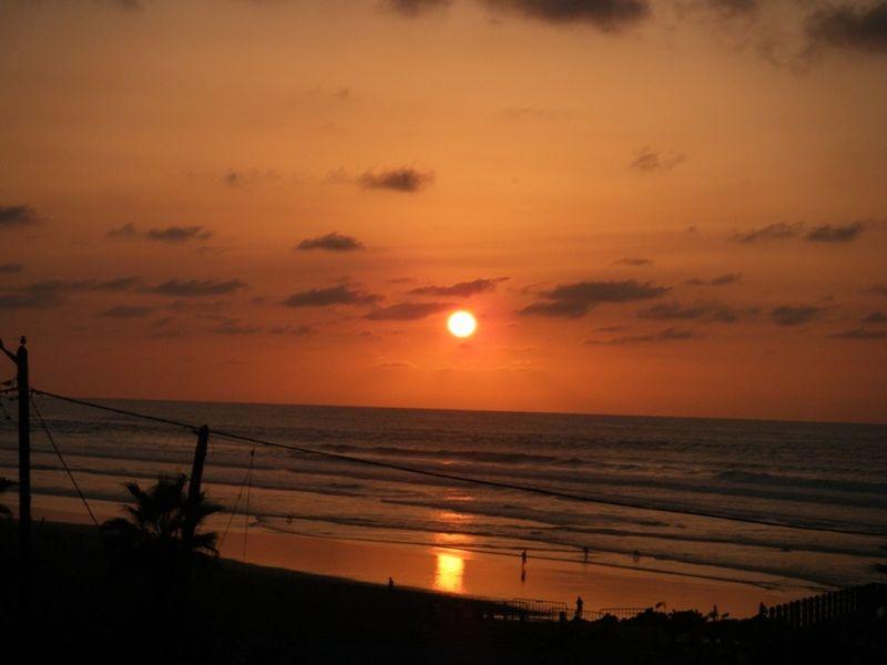Sunset on Atlantic coast Casablanca Morocco