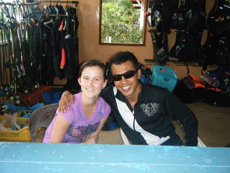 Janine and new friend Paya Beach Resort Tioman