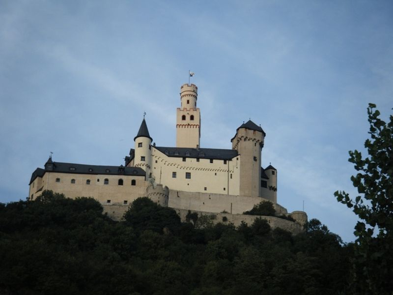 Marksburg Castle Braubach Rhine River Germany - Europe