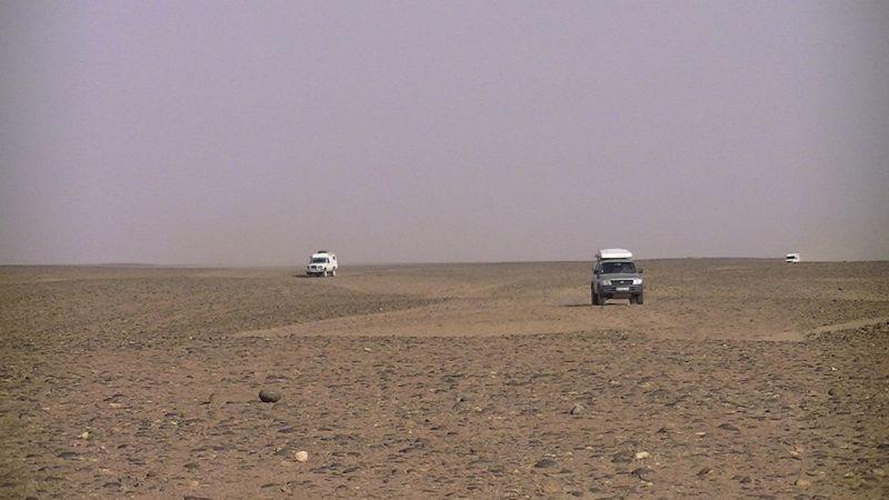 Traffic Jam in the Sahara Desert by aussirose - Morocco