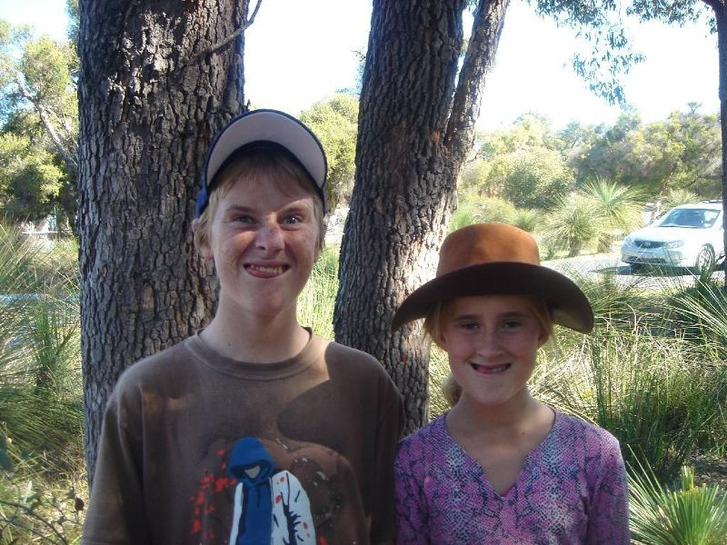 Kids after a big day out at Whiteman Park Perth