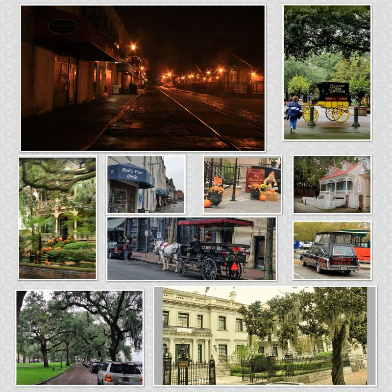 Savannah Georgia Collage by aussirose