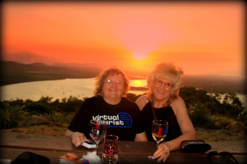 tropicrd and CollyColleen enjoy sunset Cooktown QLD - Cairns