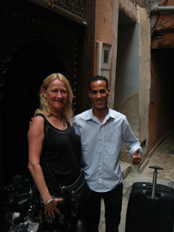Saying goodbye to Fouad - Riad Dollar Des Sables - Marrakesh