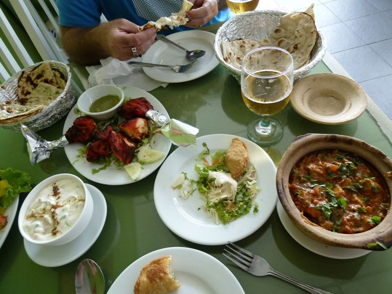 Food to die for!   Taj Mahal Restaurant Pantai Cenang - Pulau Langkawi