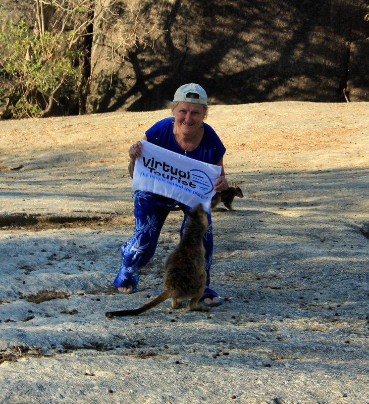 Mareeba - Ann with Rock Wallaby