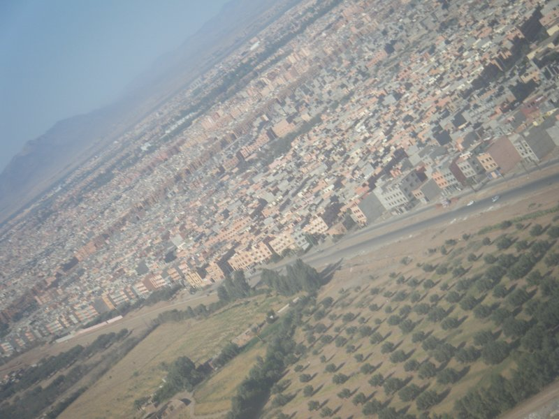 Flying into Marrakech