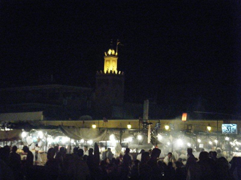 Djamaa El Fna Medina night - Marrakech
