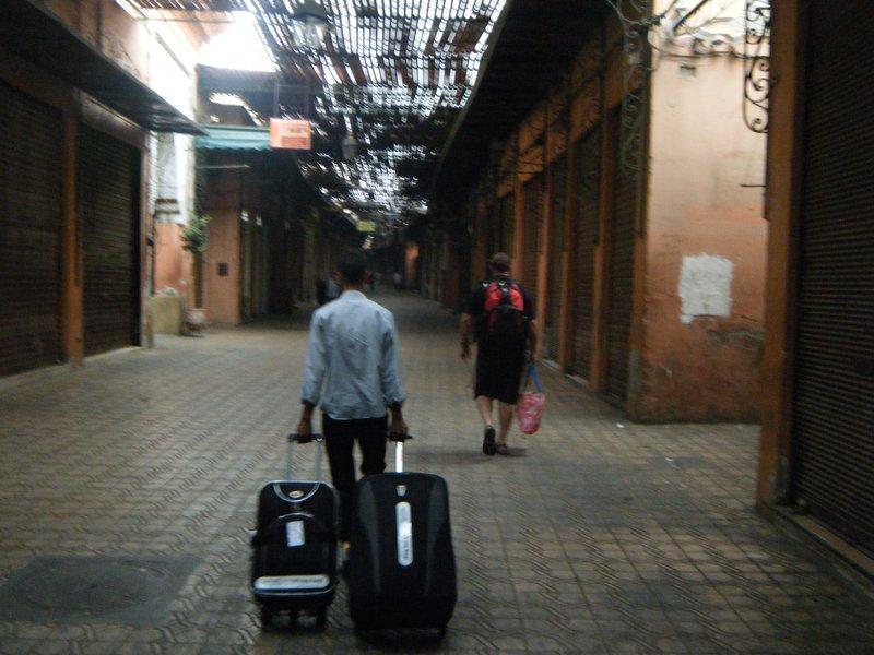 Arriving at Accommodation in Medina - Djamaa El Fna Marrakech