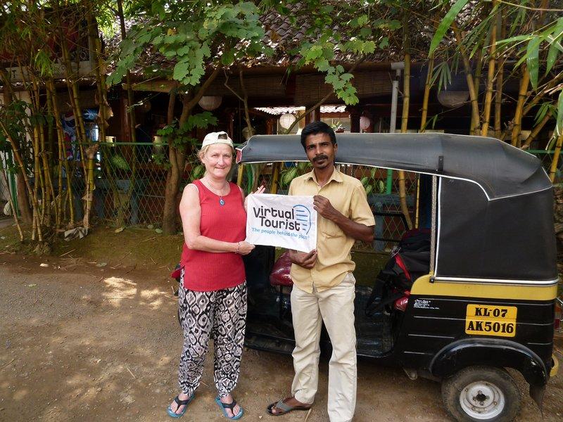 aussirose and Tuk Tuk Driver Anas Fort Kochi