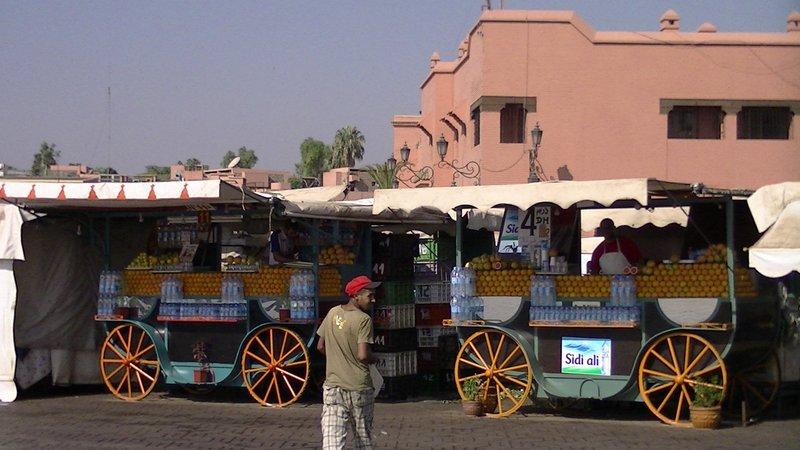 Early morning Orange Juice Vendor Marrakech