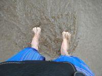aussirose sinks in muddy beach sand Casablanca