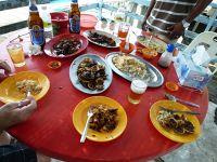 Fresh Seafood on Crab Island by aussirose - Pulau Ketam