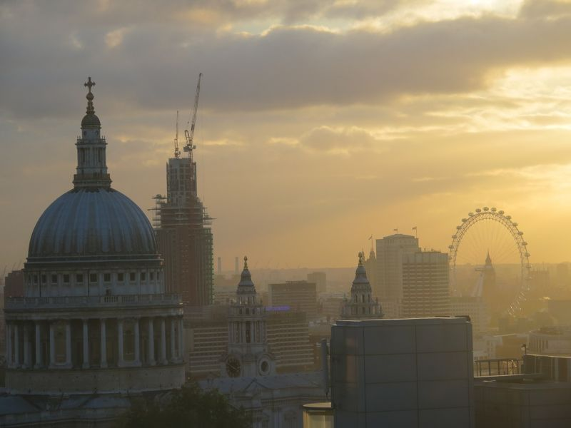 Sunset over London