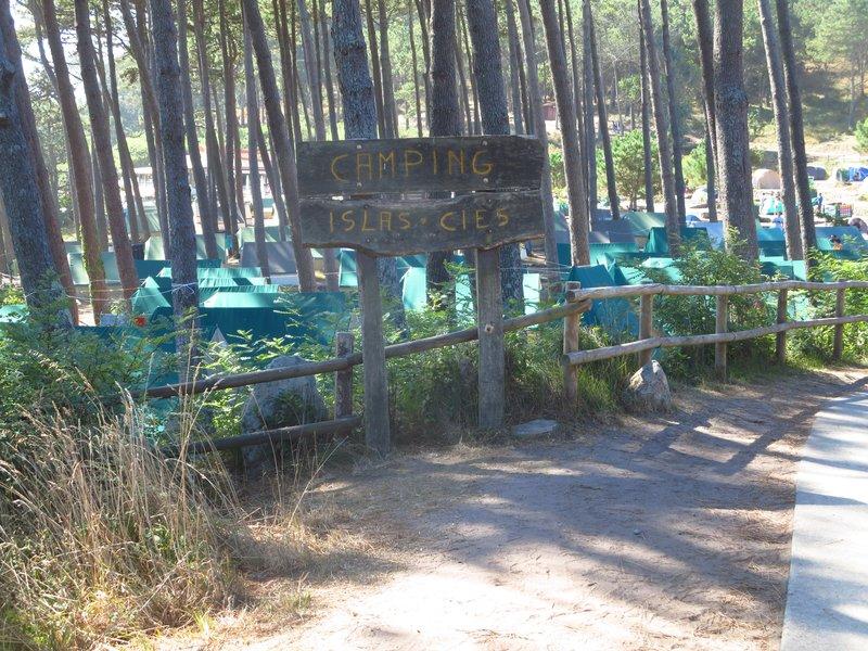 Camping in Cies Isles