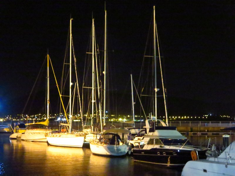 Marina in the night
