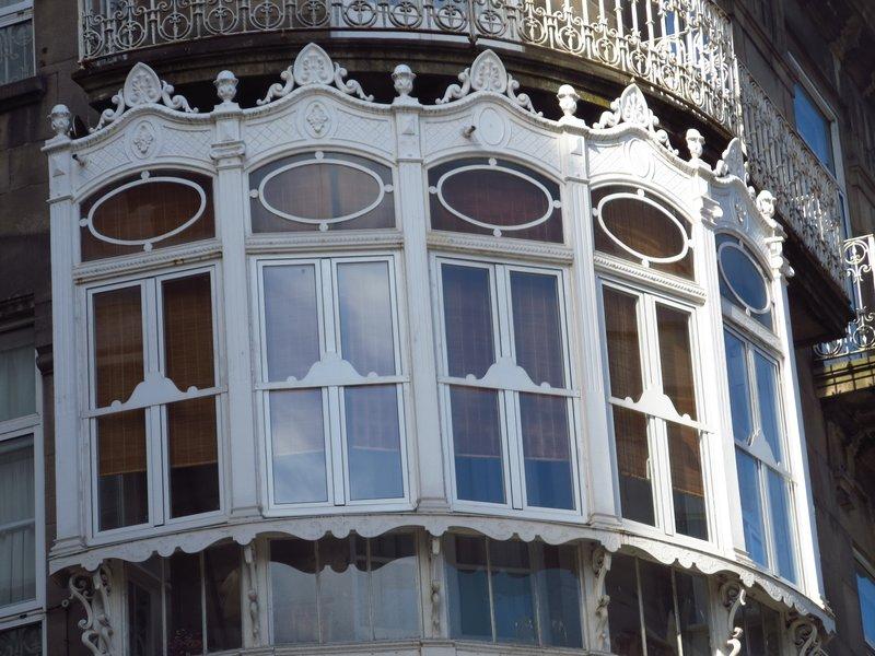 An ornate window