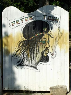 Gate to Peter Tosh's Mausoleum - Negril