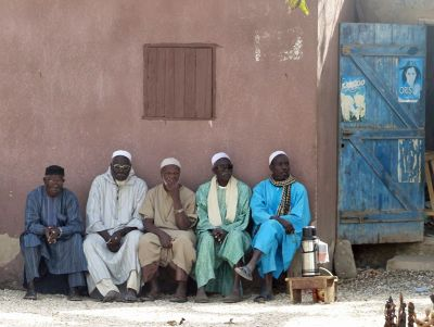 Locals in the main square of Fadiouth - Joal-Fadiout