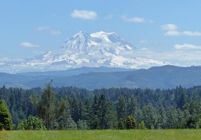 First view of Mount Rainier