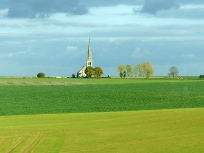 View from a train: somewhere in Northern France