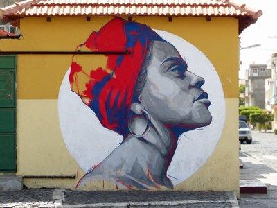 Mural in Tarrafal, Santiago