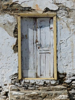 Old door, Tarrafal, Santiago