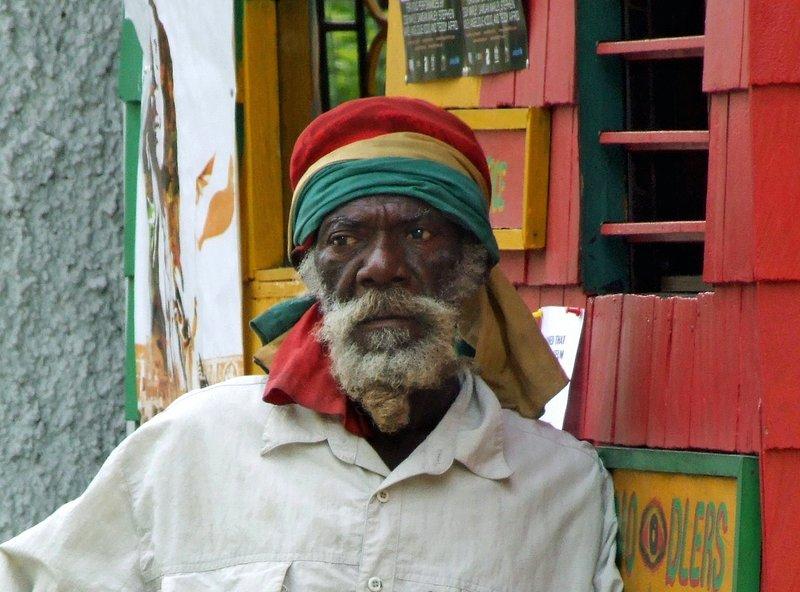 At the Bob Marley Museum, Kingston, Jamaica