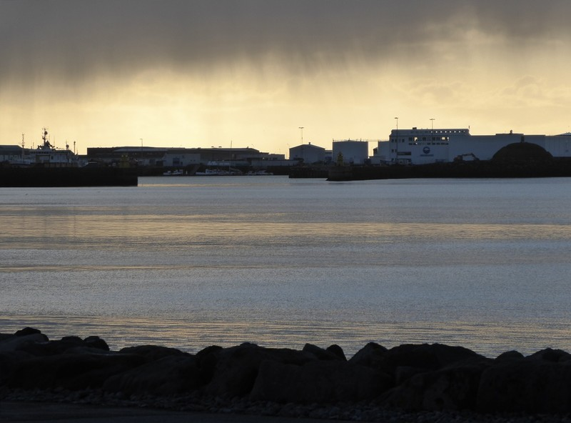 Rainstorm across the bay, Reykjavik