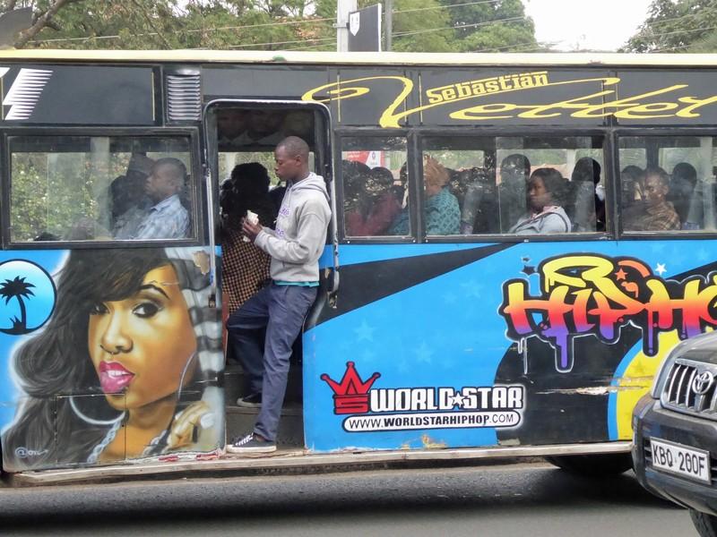 Bus on Kenyatta Avenue, Nairobi