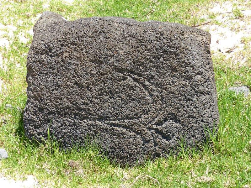 Petroglyph at Anakena Beach, Rapa Nui