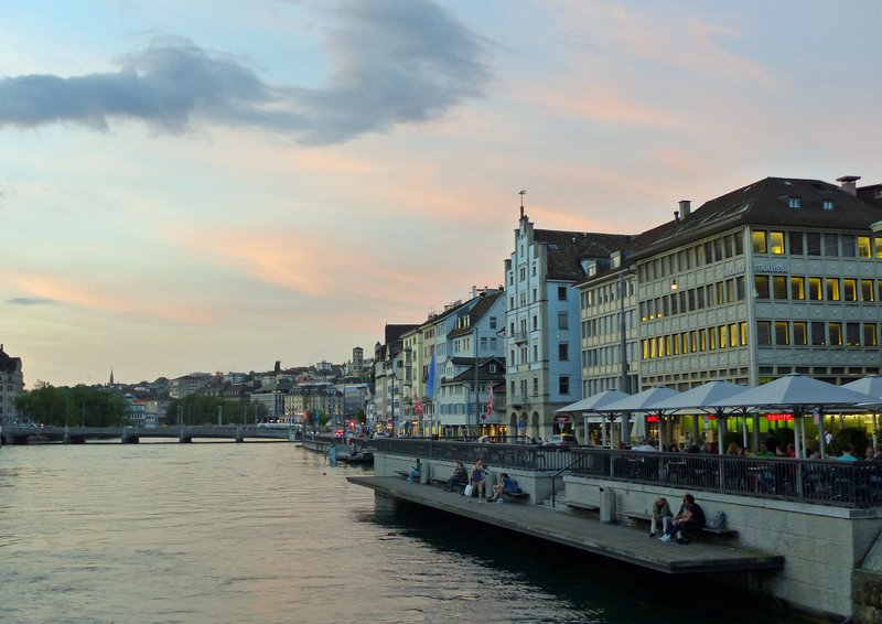 Zurich at sunset