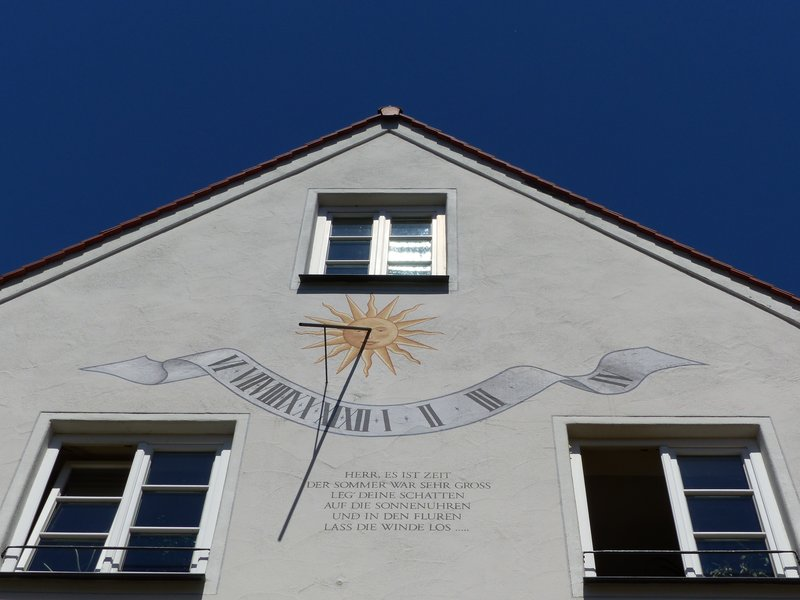 Sundial on a house in Kempten
