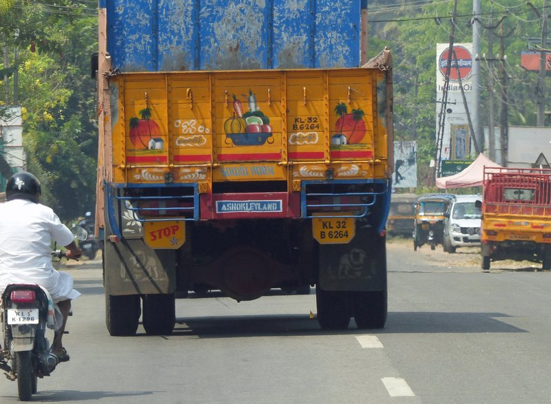Colourful lorry