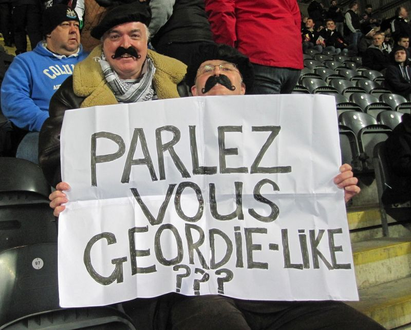 Newcastle fans honour our many French players - Newcastle upon Tyne
