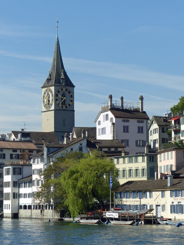 The Limmat and St Peter's, Zurich