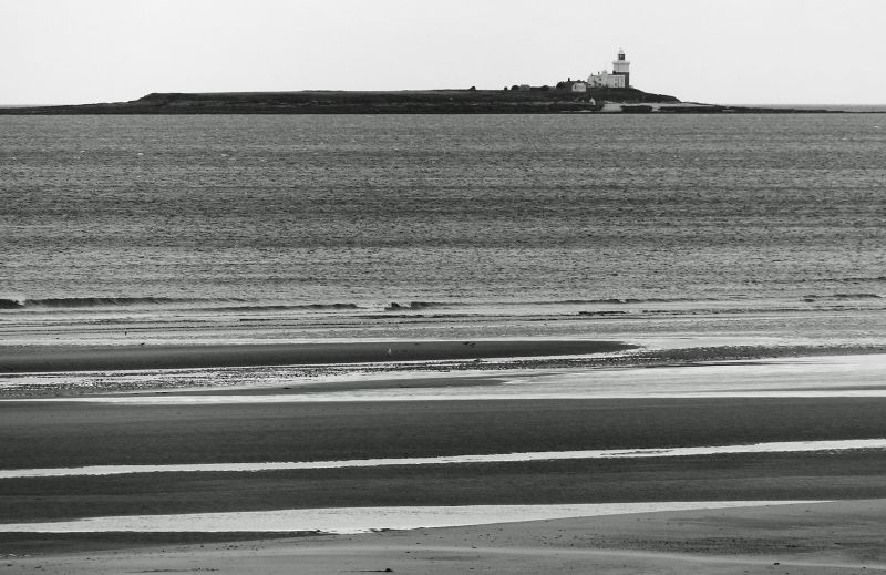 Coquet Island from the main (safe) beach - Alnmouth