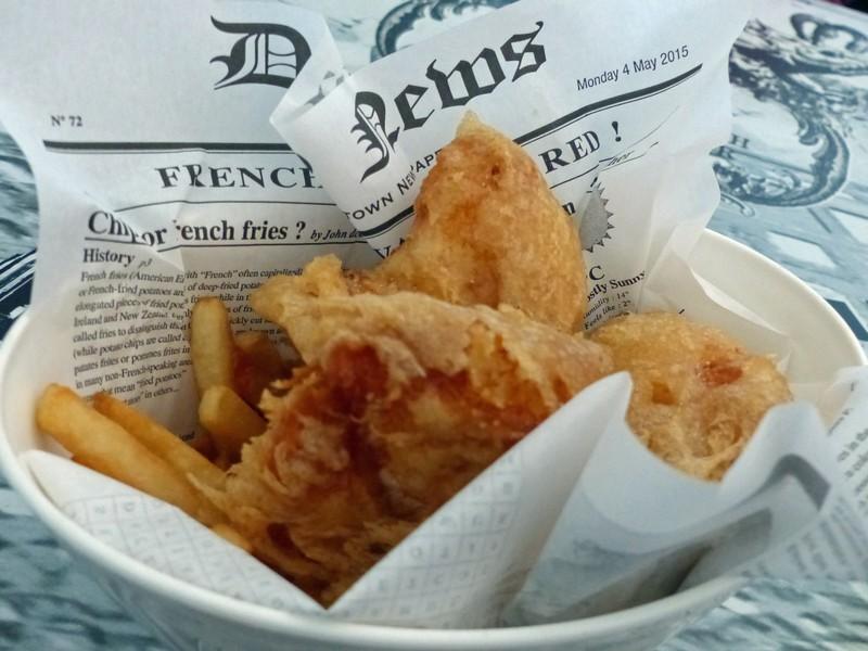 Fish and chips at Reykjavik Fish