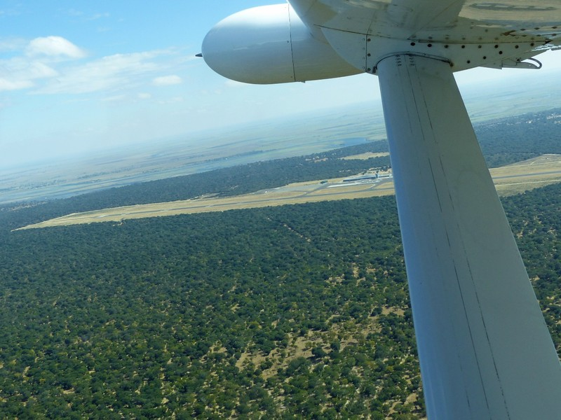 After take off from Kasane, Botswana