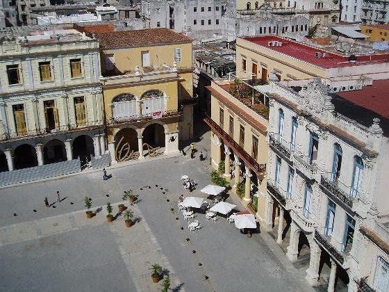 Plaza Mayor from the roof of the Camara Oscura - Cuba
