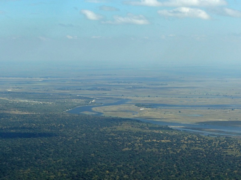 Chobe River from the air, Botswana