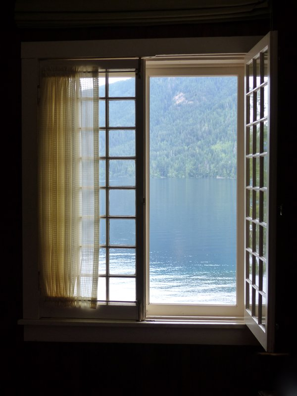 View from our room, Lake Crescent Lodge, Olympic NP