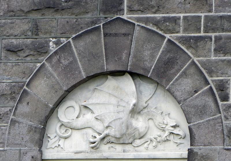 Parliament building, Reykjavik - the dragon