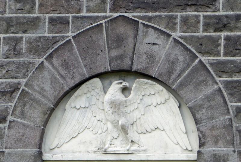 Parliament building, Reykjavik - the eagle