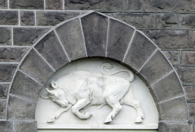 Parliament building, Reykjavik - the bull